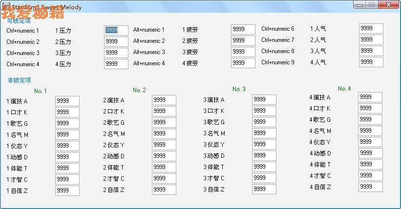 《明星志愿3:甜蜜乐章》多功能修改器v0.2.1.071231 + 13
