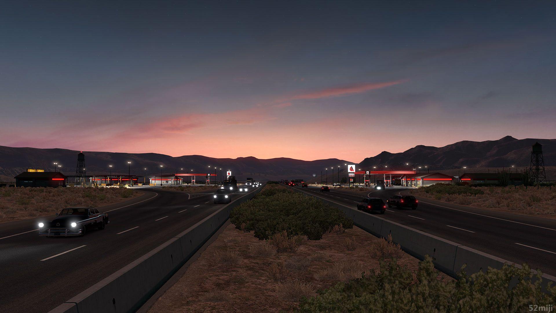 模拟美国卡车高速公路图片