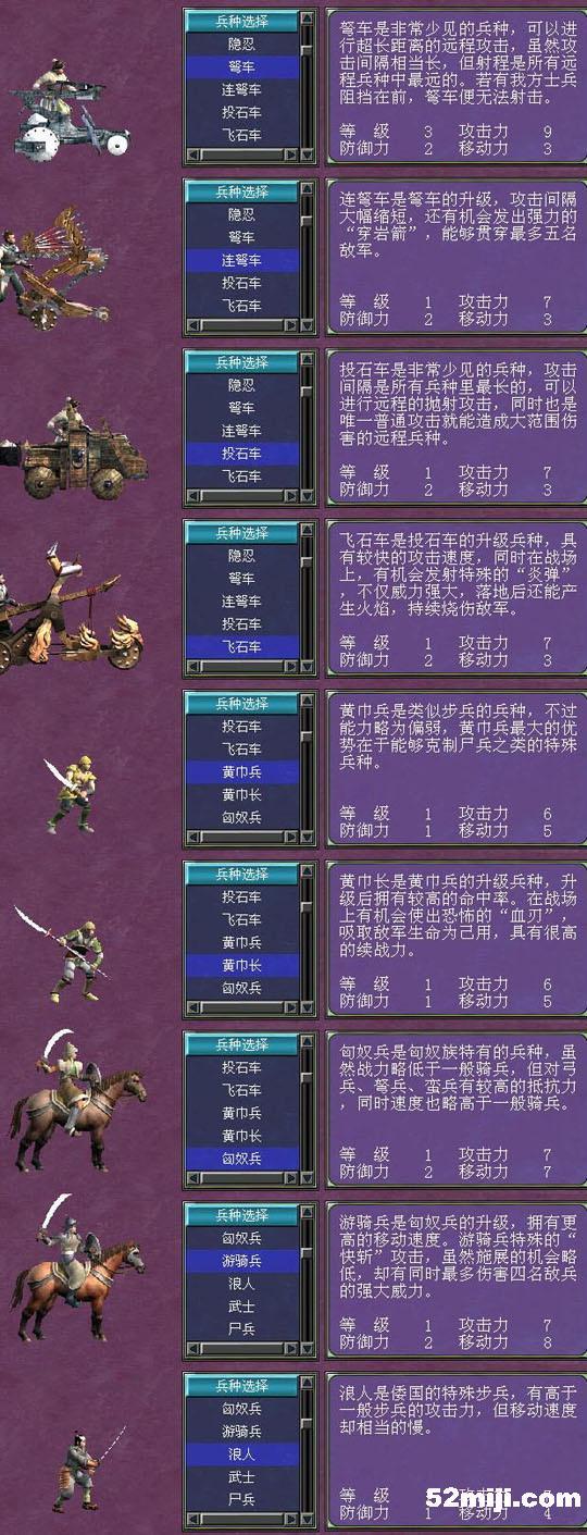 三国群英传7所有兵种(图)图片