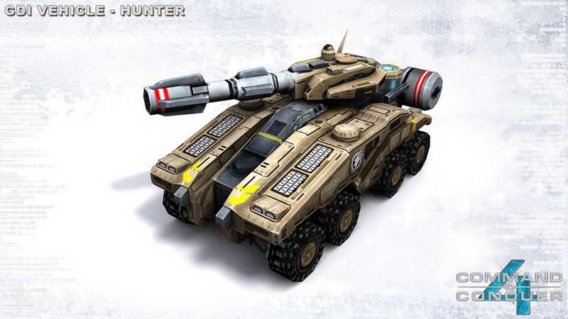 命令与征服4单位档案:猎手坦克