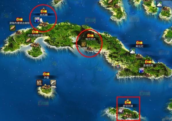 游戏专区 海商王3 > 文章内容  进入航海图界面,当然很多港口一开始是
